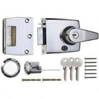 Era Double Locking Nightlatch 40mm - Finish: Polished Chrome Body - Chrome Cylinder